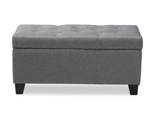 Contemporary Fabric Storage Ottoman