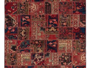 Hand  Knotted Vintage Anatolia Patch Red