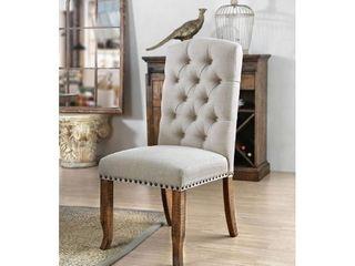 Side Chair  Rustic Pine and Ivory