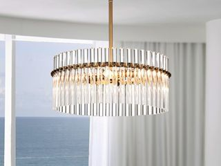 Casandra 4 light Brushed Brass Crystal Chandelier  Retail 172 99aa0a a0