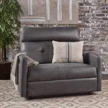 Halima Microfiber Wide Recliner Club Chair  Slate