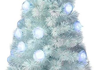 Iridescent Fiber Optic 4a White Artificial Christmas Tree
