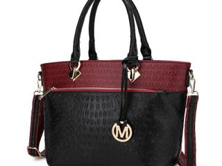 MKF Collection Grace Signature and Croc Embossed Tote Bag by Mia K