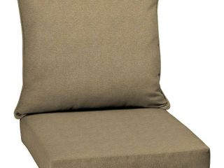 Arden Selections Tan Hamilton Texture Outdoor Deep Seat Set   46 5 in  l x 24 in  W x 5 75 in  H   Tan