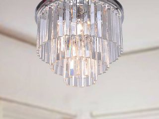 Justina 5 light Chrome Chandelier with Crystal Glass Prisms Retail 183 99