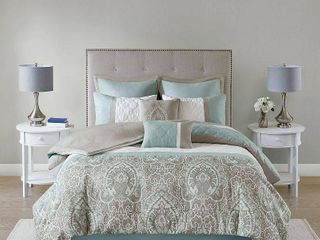 Seafoam   Queen  510 Design Josefina 8 Piece Comforter Set Retail 118 49