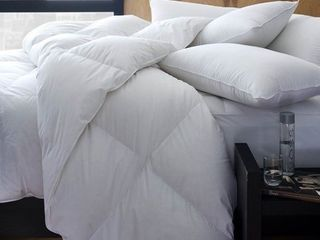 1221 Bedding Cotton Sateen European White Goose Down Comforter Retail 359 49