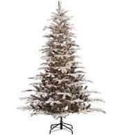 Puleo International 7 5 Prelit Flocked P Christmas Tree