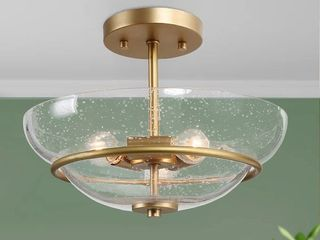 Mid Century 3 light Semi Flush Mount Ceiling