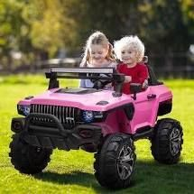 Aosom 12V 2 seat Ride on SUV Truck with  PINK