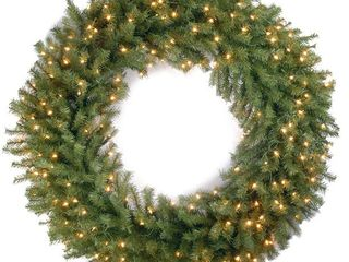42  Green  Norwood Fir Wreath with 150 Clear lights Retail 124 99