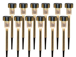 Warm White  10pcs 5W High Brightness Solar Power lED lawn lamps