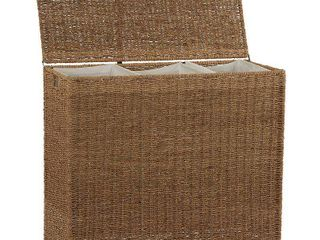 Household Essentials Seagrass 3 Bag Sorter Hamper  Natural