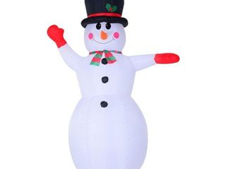 Polyester   Multi  8  Waving Snowman Outdoor lED light Inflatable Christmas Yard Decoration