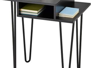 Kings Brand Furniture   Vicente Side End Table   Night Stand  Metal wood  Black