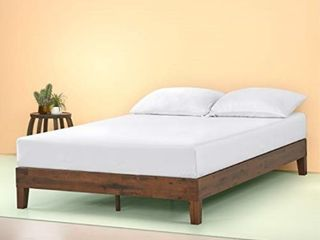 Zinus Marissa 12 Inch Deluxe Wood Platform Bed   No Box Spring Needed   Wood Slat Support   Antique Espresso Finish  Queen