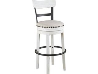 Tall Valebeck Upholstered Swivel Barstool White   Signature Design by Ashley