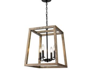 Rustic large Geometric Wooden and Black lantern Retail 191 49