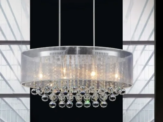 Gracewood Hollow Tatah 6 light Chrome  Crystal Chandelier Retail 409 99