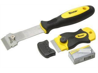 Titan Tools 17002 2 Piece Multi Purpose Razor Scraper Set with Extra Razor Blades