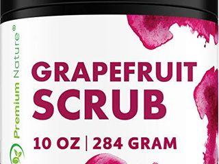 Exfoliating Grapefruit Face Body Scrub   Best Skin Exfoliator for Face Hand lip   Body with Sea Salt   Shea Butter Acne   Eczema Treatment Facial Scrubs Exfoliate Stretch Mark Packaging May Vary