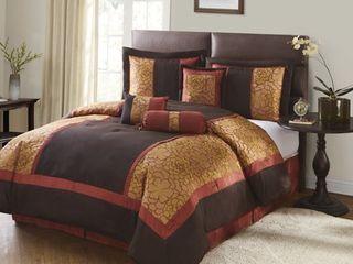 King Grand Avenue Hermonie 7 piece Bedding Comforter Set Retail 101 99