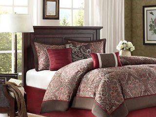 Home Essence Graham 7 Piece Jacquard Comforter Bedding Set