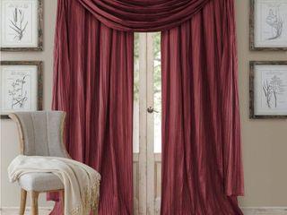 Elrene Athena Rod Pocket 52  x 84  Pair of Curtain Panels with Scarf Valance  Set of 3