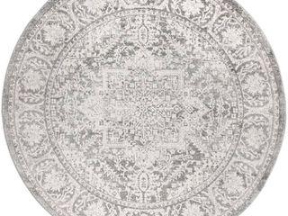 light Grey 6  Round   Modern Persian Vintage Medallion Area Rug   Retail 82 49