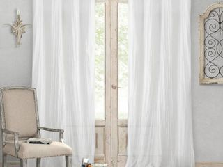 Jolie 52  x 108  Crushed Semi Sheer Curtain Panel Pair