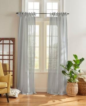 Elrene Vienna Tie Top Sheer Window Curtain Pair