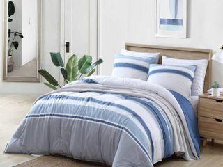 Full Queen Nautica Trimmer Cotton Blue Comforter Set Retail  119 99