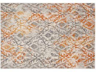 Cream Orange Abstract loomed Area Rug    8 X10    Safavieh