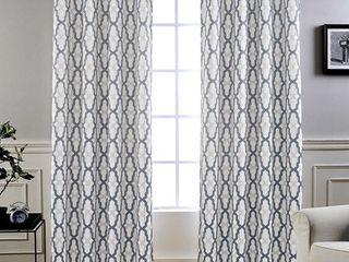DriftAway Mason Geo Thermal Insulated Blackout Grommet Window Curtain Panel Pair