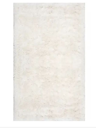 nuloom 6  x 9  Ivory Deep Feather Shag