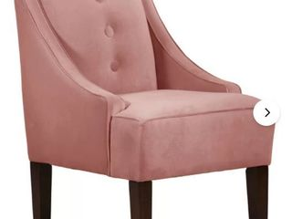 Skyline Furniture  Pink Armless Accent Chair with Button Tufts