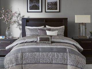 California King 7pc Harmony Jacquard Comforter Set