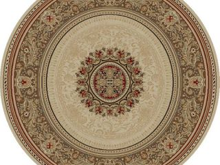 Concord Global Trading Ankara Collection Chateau Area Rug   7 10  Round