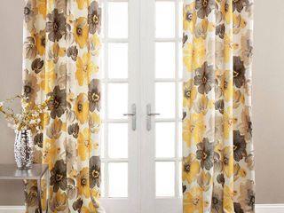leah Room Darkening Window Curtain Set