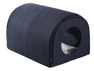 Pawhut Heated Outdoor Cat House Black