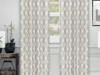 Miranda Haus labrea Damask Jacquard Grommet Curtain Panel  Set of 2
