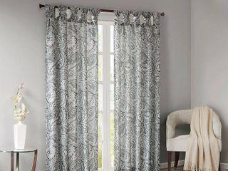 Home Essence Elodie Twist Tab Paisley Printed Window Panel Pair