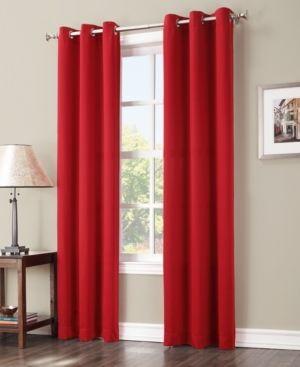 108 x40  Kenneth Energy Saving Blackout Grommet Top Curtain Panel Red   Sun Zero