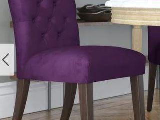 Skyline Furniture   Velvet Aubergine Dining Chair