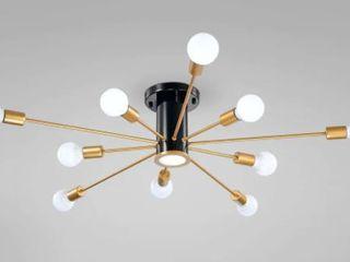 lorena Sputnik 11 light Flush Mount in Black and GoldFinish  Retail 109 49