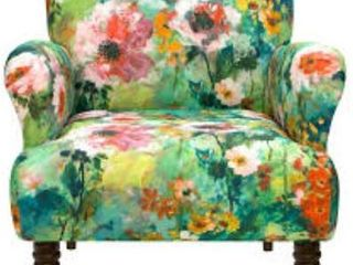 Skyline Furniture   large Floral Arm Accent Chair