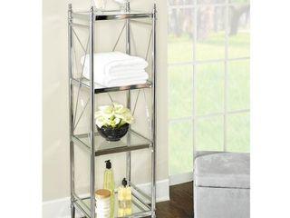 Walker Chrome and Glass Four tier Shelf Retail 165 99