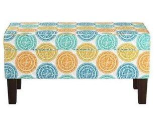 Multicolor Mandala Storage Bench 38