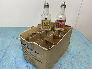 Vinegar Pourers   8 with lids   3 without lids