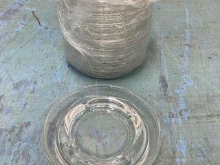 lot Of 14   5  Glass Ashtrays